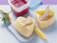 Coconut and Mango Parfaits with Raspberry Puree recipe