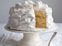 Coconut Cake with Meringue Frosting recipe
