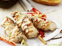 Coconut Chicken Skewers recipe