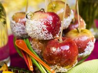 Coconut-Coated Glazed Apples recipe