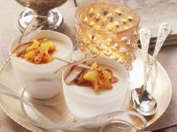 Tropical Pudding with Fruit Stars recipe