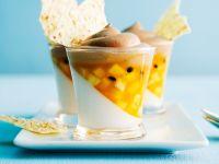 Coconut Cream with Exotic Fruit recipe