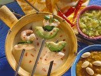 Coconut Fondue with Shrimp and Chicken recipe