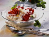 Coconut Rice Pudding with Strawberries recipe