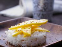 Coconut Rice Topped with Mango recipe