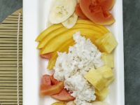 Coconut Rice with Exotic Fruit Salad recipe