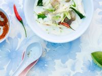 Coconut Soup with Chicken and Mushrooms