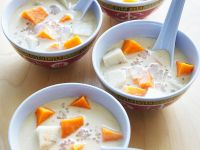 Coconut Soup with Yams and Sago Pearls recipe