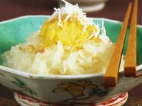 Coconut Sticky Rice with Mung Bean Puree recipe
