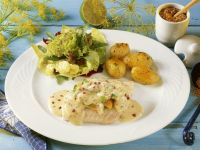 Cod and Potatoes with Mustard Sauce recipe