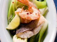Cod and Prawns with Bok Choy recipe