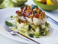 Cod Fillets over Mash and Leeks recipe