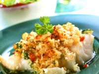 Cod Fillets with Chile-Lime Bread Crust recipe