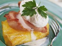 Cod Fillets with Ham and Poached Egg recipe