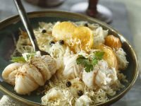 Cod Rolls and Sauerkraut with Potatoes recipe