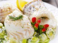 Cod Rolls with Creamy Leek recipe