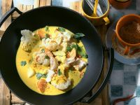 Cod, Vegetable and Coconut Curry recipe
