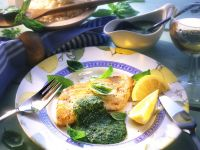 Cod with Basil Sauce recipe