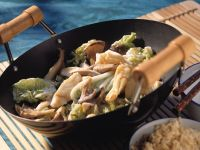 Cod with Cabbage and Mushrooms recipe