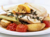 Cod with Potatoes and Tomatoes recipe