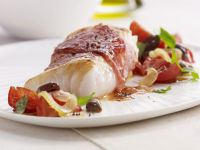Cod with Prosciutto and Tomatoes recipe
