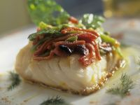 Cod with Roasted Bell Peppers recipe