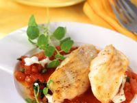 Cod with Tomato Caper Sauce recipe