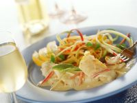 Cod with Vegetables and Cream Sauce recipe