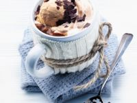 Chocolate and Coffee Drink with Garnish recipe