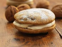 Coffee & Walnut Whoopie Pies with Cream Cheese Filling recipe