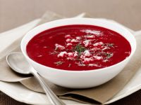 Cold Beetroot Soup with Cheese recipe