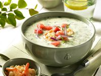 Cold Cucumber and Shrimp Soup recipe