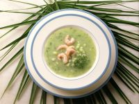 Cold Cucumber Soup with Shrimp recipe