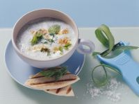 Cold Cucumber Soup with Yogurt and Mint recipe