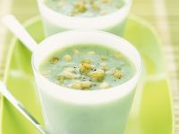 Cold Green Bisque with Pignoli recipe