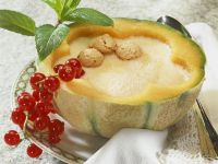 Cold Melon Soup with Currants and Mint recipe