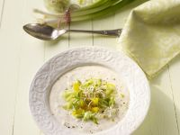 Cold Yogurt Soup with Scallions and Sprouts recipe