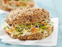 Coleslaw, Carrot and Sprout Sandwiches recipe