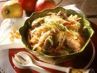 Coleslaw with Liver Dumplings recipe