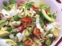 Colorful Avocado and Endive Salad with Sunflower Seeds recipe