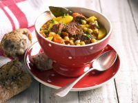 Colorful Chickpea Soup with Chorizo recipe