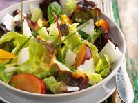 Colorful Mixed Salad with Plums