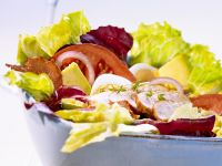 Colorful Salad with Chicken recipe