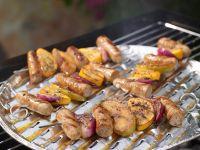 Colorful Sausage Skewers recipe