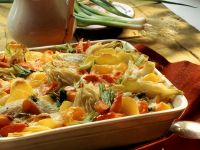 Colorful Vegetable Gratin with Potatoes recipe