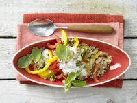 Colorful Vegetables and Muesli recipe