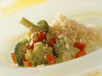 Colorful Vegetables and Rice recipe