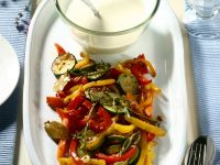 Colorful Vegetables with Yogurt Sauce recipe