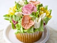 Colourful Flower Cakes recipe
