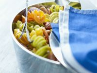 Colourful Fusilli with Sun-dried Tomato recipe